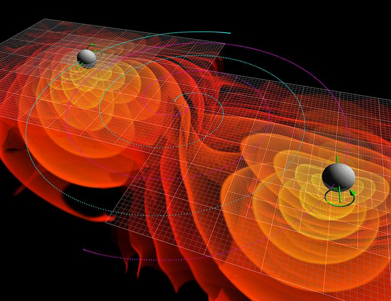 va chạm hai hố đen